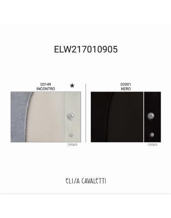 VESTE COLLO PELLICCIA NERO Elisa Cavaletti ELW217010905N