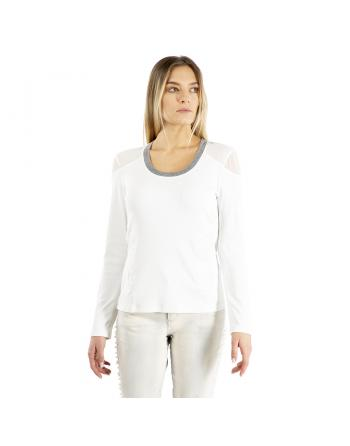 T-SHIRT COL LISERE INCONTRO Elisa Cavaletti ELW215052300