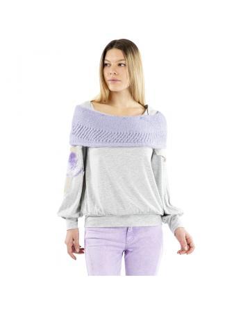 T-SHIRT HAUT GRAND COL FAVOLE Elisa Cavaletti ELW215002801FA