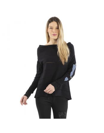 PULL TORSADE E CUORE CONQUISTE Elisa Cavaletti ELW214061302CQ
