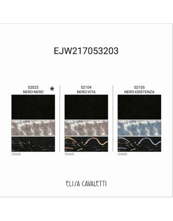 GILET LONG NERO NERO Elisa Cavaletti EJW217053203NN