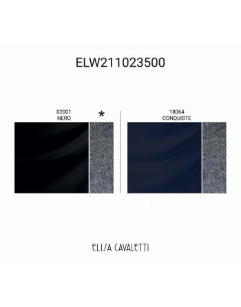 CHEMISIER NERO CUORE BLU DOS Elisa Cavaletti ELW211023500N