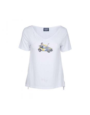 T-SHIRT SIMPLE TACOT BIANCO Elisa Cavaletti ELP205091907
