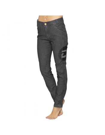 PANTALON DENIM NERO RONDELLE  Armadio TAM6041099400