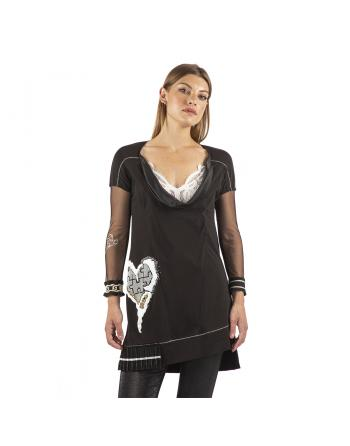 ROBE TUNIQUE CŒUR INCRUSTE Elisa Cavaletti EJP212041508